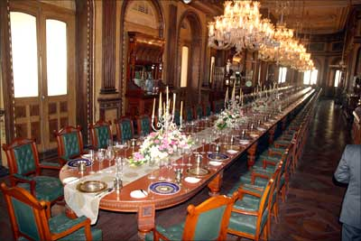 Supposed to be the world's longest dining table.