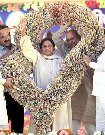 Bahujan Samaj Party leader Mayawati.