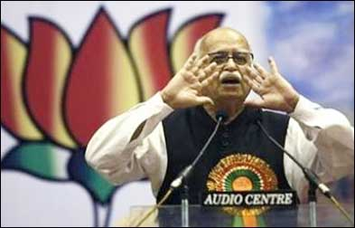 BJP leader L K Advani.