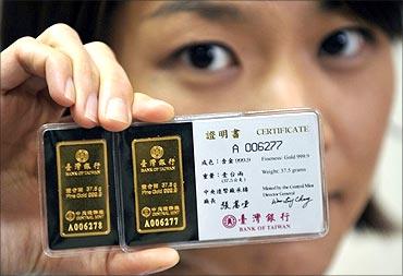 A gold certificate.