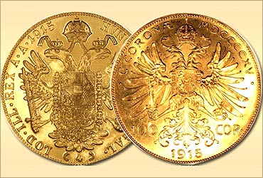 Austrian gold coin.