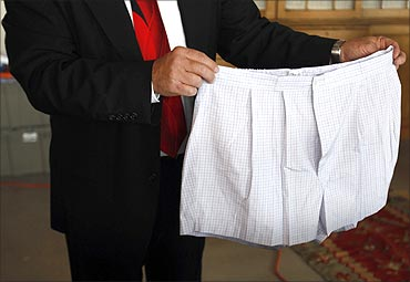 A pair of boxer shorts belonging to Bernard Madoff .