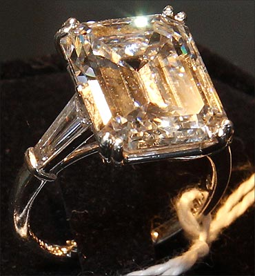 A ten carat diamond ring belonging to Bernard Madoff.