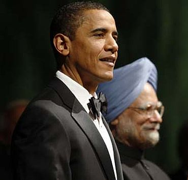 Prime Minister Manmohan Singh with US President Barack Obama.