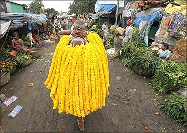 A flower vendor.
