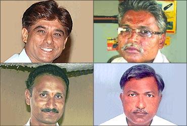 Prajapati (L) Madanlal (R) top; Mallesham (L), Mansukhbhai Patel (R).