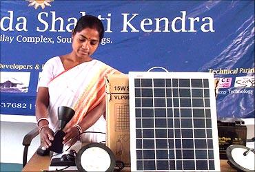 Rural centre for solar lights.