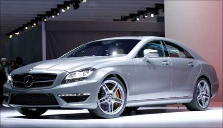 The new Mercedes Benz CLS63 AMG is unveiled.