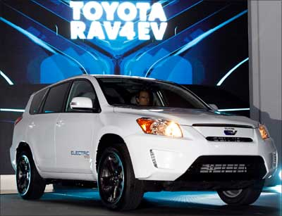 The Toyota RAV 4 EV Concept.
