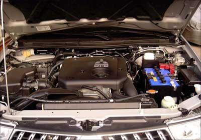 Engine of Mitsubishi Montero.