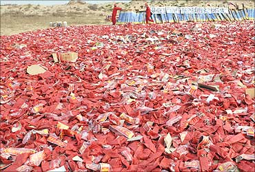 Confiscated firecrackers.