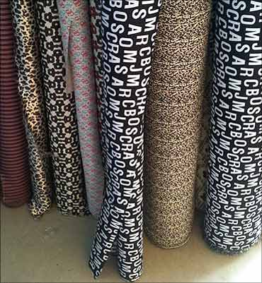 Fashion branded material.