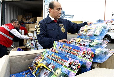 A shipment of toys.