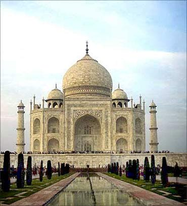 The Taj Mahal in Agra, UP.