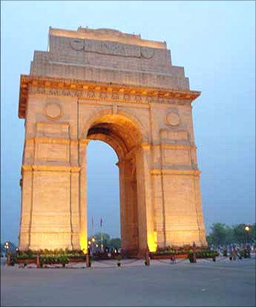 India Gate in New Delhi.