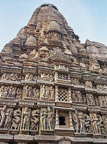 The temples at Khajuraho in Madhya Pradesh.