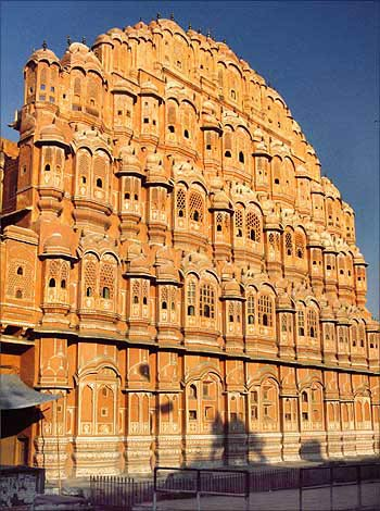 The Hawa Mahal in Jaipur.