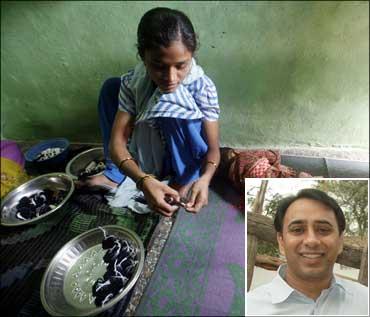 (Inset) Vikram Akula of SKS Microfinance.