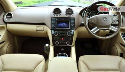 An interior view of the car.