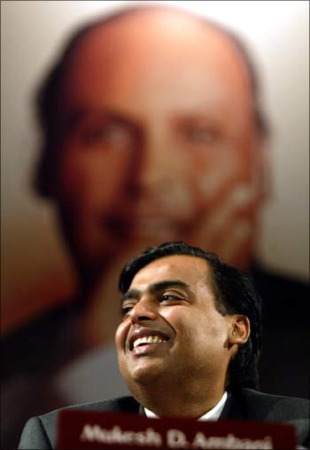 RIL chairman and BoA board member Mukesh Ambani.