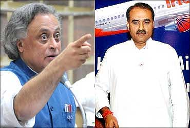 Environment Minister Jairam Ramesh and Civil Aviation Minister Praful Patel.