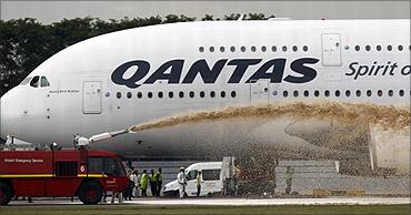 Qantas aircraft.