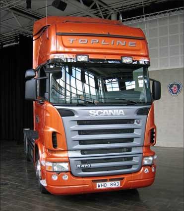 A Scania truck.