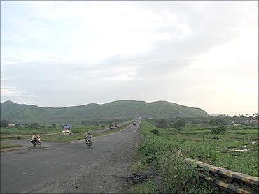 Area near the proposed airport in Navi Mumbai.