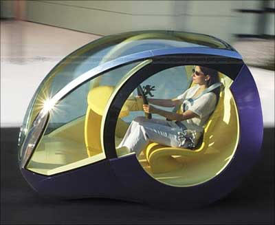 A concept electric car.