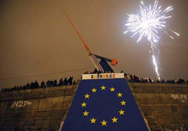 The Czech celebrating the New Year.