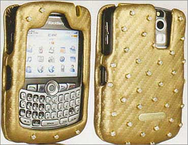 BlackBerry in a diamond case.