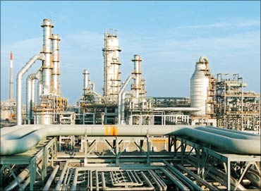 The Reliance Industries petrochemicals plant in Jamnagar.