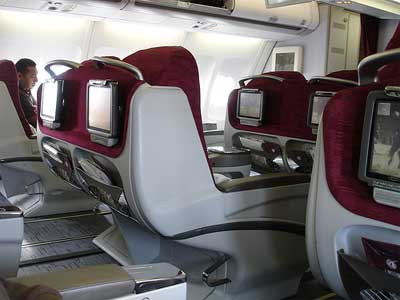 A view of the Business Class seats.