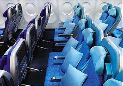The new Economy Class seats.