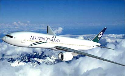 An Air New Zealand aircraft.