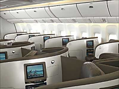 A view of the Business Class.