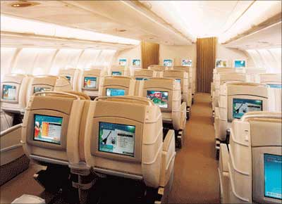 Business Class of Asiana Airlines.