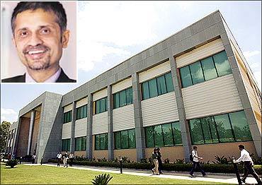 The Wipro campus. (Inset) Anurag Behar, Azim Premji Foundation head