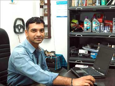 Raghav Rangarajan in his office.