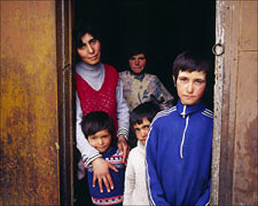 A family in Armenia.