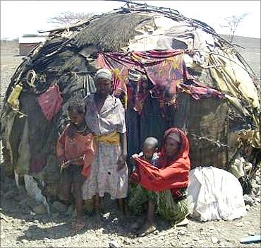 Poor people in Namibia.