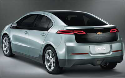 Rear view of Volt.