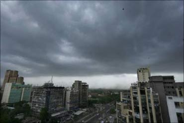 Monsoon clouds loom over Pune.