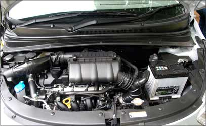 The new engine of Hyundai i10.