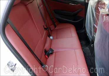 The rear seats of BMW X1.