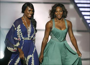 Tennis stars and entrepreneurs Venus and Serena Williams.