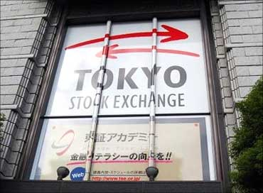 A poster of Tokyo Stock Exchange.