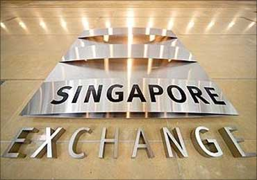 The facade of Singapore Stock Exchange.