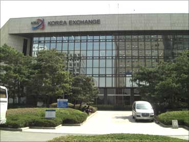 South Korea Stock Exchange building.