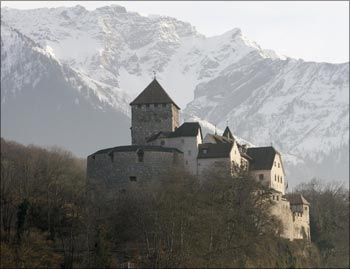 A general view shows Vaduz Castle in Liechtenstein's capital Vaduz.